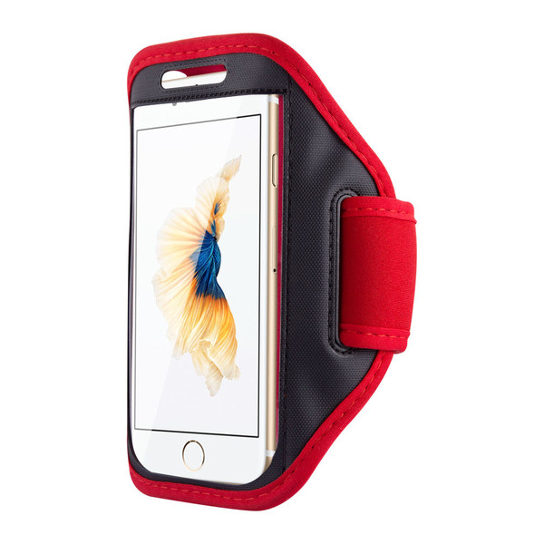 Samsung Galaxy S6 Edge Sports Running Gym Armband Strap Case Cover-Red