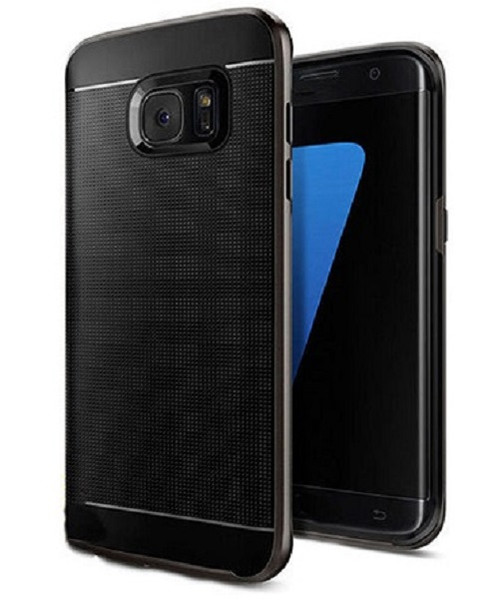 Samsung Galaxy S6 Edge Plus  Black 360° Shockproof Protective Hard Case