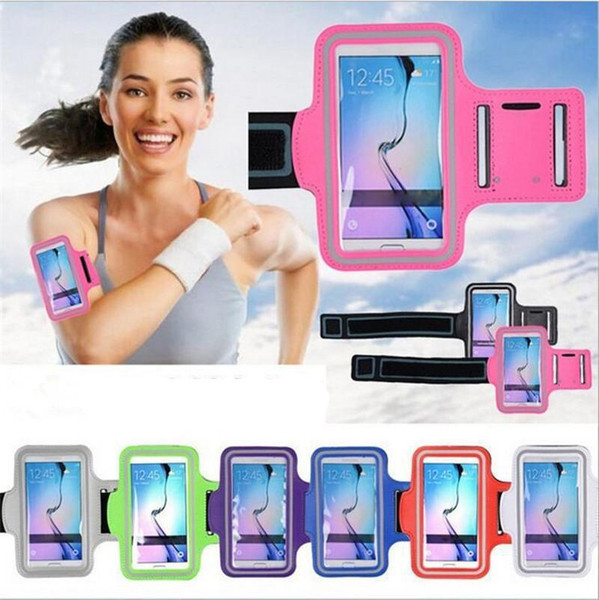 Samsung Galaxy S6 Sports Running Gym Armband Strap Case Cover - Black