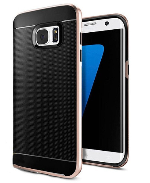 Samsung Galaxy S6 Edge Rose Gold 360° Shockproof Protective Hard Case