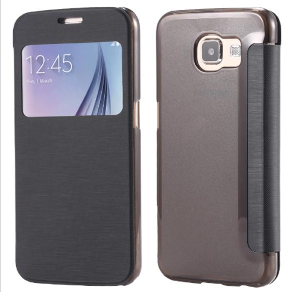 Samsung Galaxy S6 Window View Case Cover - Black