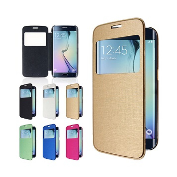 Samsung Galaxy S6 Window View Case Cover - Gold