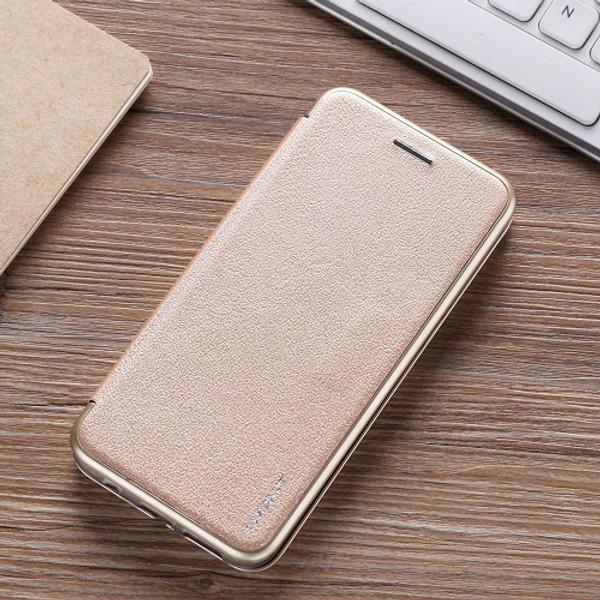 Samsung Galaxy S7 Edge  Luxury Ultra Thin Leather Flip Card Holder Case- Champagne Gold