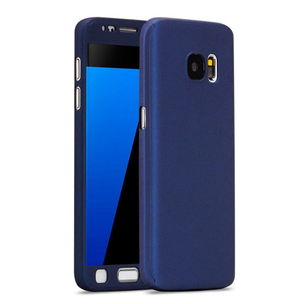 Samsung Galaxy S7 Luxury Hybrid 360 New Shockproof Flip Case -Dark Blue