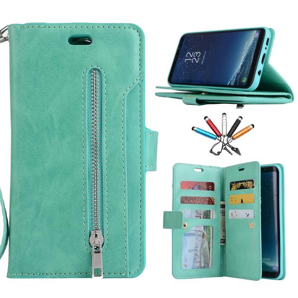 Samsung Galaxy S8  Mint Flip Card Stand case