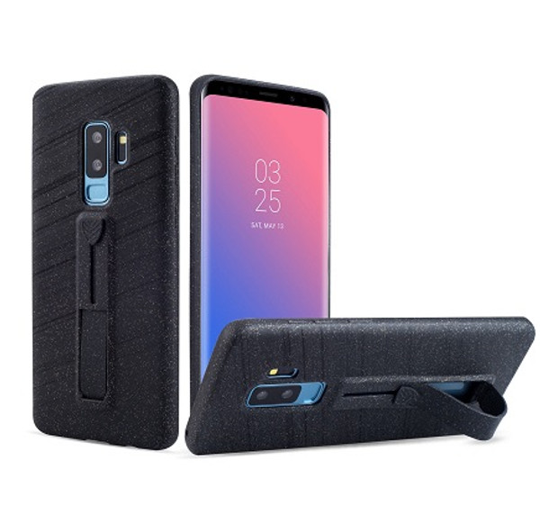 Samsung Galaxy S8 Charcoal Ultra thin  with Finger Holder/Kick Stand Case