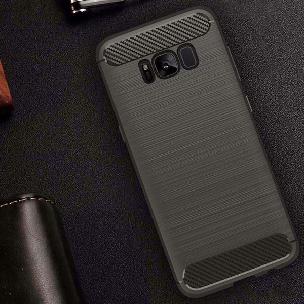 Samsung galaxy S8 Flexible Silicone interior rugged Case Grey
