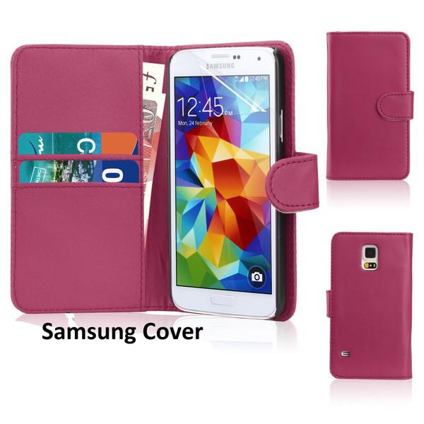 Samsung Galaxy S8 Leather Flip Wallet Case Pink
