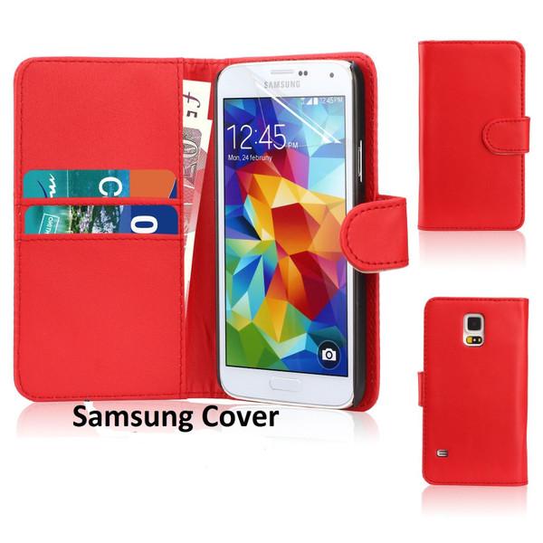 Samsung Galaxy S8 Leather Flip Wallet Case Red