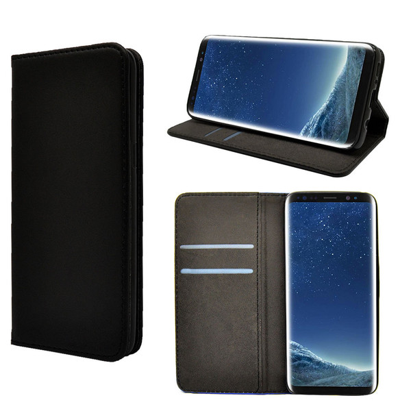 Samsung Galaxy S8 Leather Magnetic Wallet Case Cover + Screen Protector