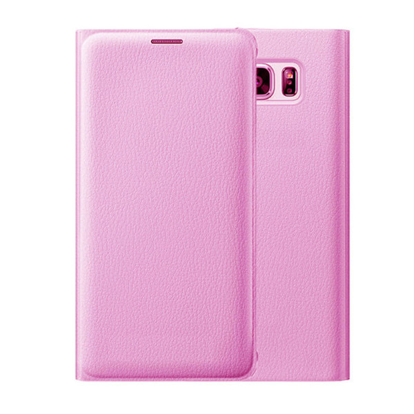 Samsung Galaxy S8 Leather Wallet Card Holder Cover - Baby Pink