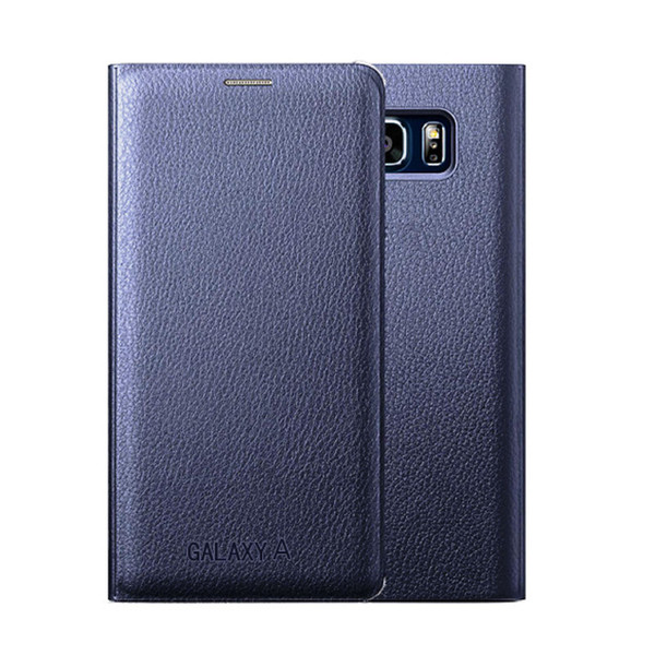 Samsung Galaxy S8 Leather Wallet Card Holder Cover - Blue