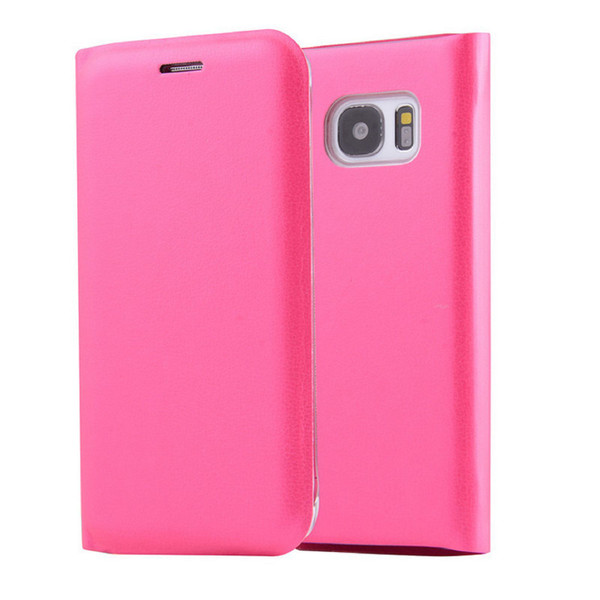 Samsung Galaxy S8 Leather Wallet Card Holder Cover - Pink