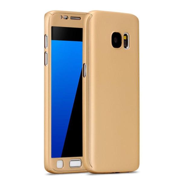 Samsung Galaxy S8 Luxury Hybrid 360° New Shockproof Flip Case -Gold