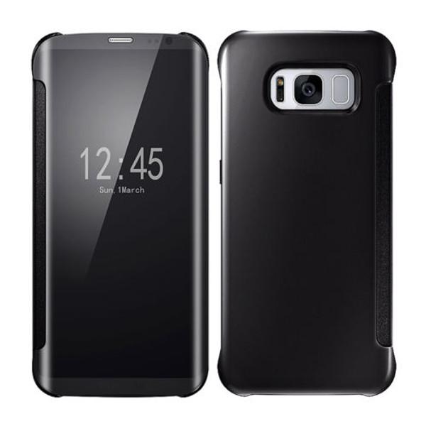 Samsung Galaxy S8 Mirror Smart View Clear Flip Phone Cover -  Black