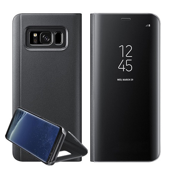 Samsung Galaxy S8 Mirror Stand Case Cover Black