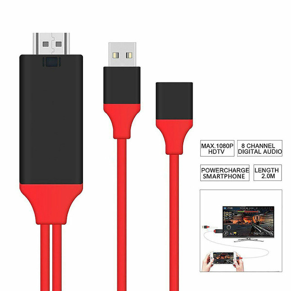 1080P  Micro USB MHL to HDMI Cable Adapter For S5 S6 S7