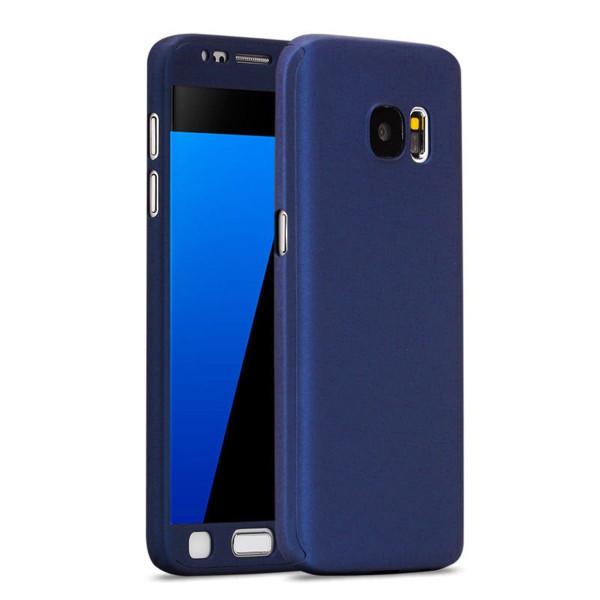 Samsung Galaxy S8 Plus Luxury Hybrid 360 New Shockproof Flip Case -Dark Blue