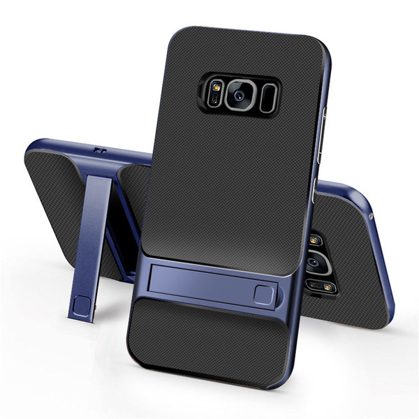 Samsung Galaxy S8 Plus TPU Shockproof Stand Back Case Blue