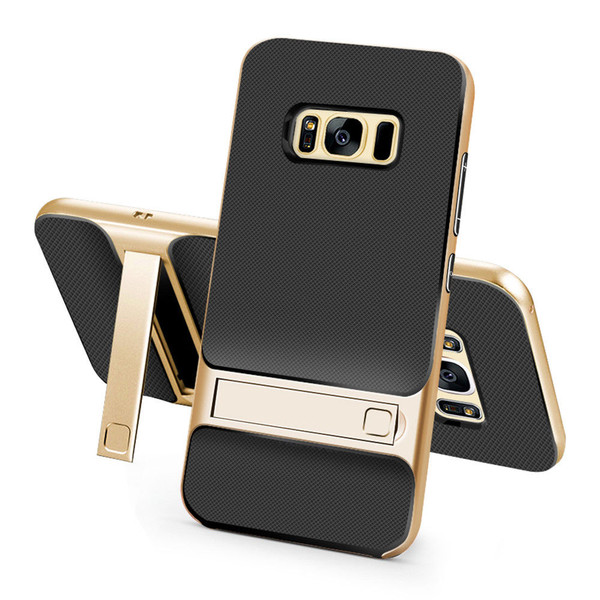 Samsung Galaxy S8 Plus TPU Shockproof Stand Back Case Gold