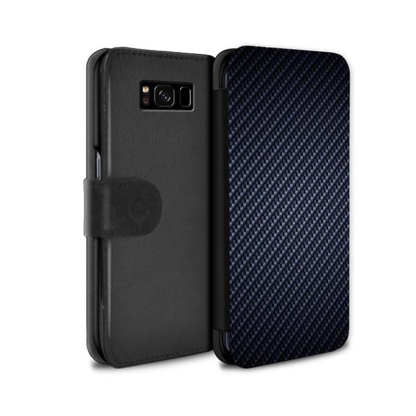 Samsung Galaxy S8 Plus/G955/Carbon Fibre Effect/Pattern Blue