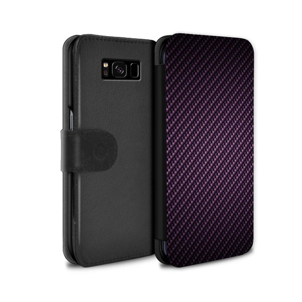Samsung Galaxy S8 Plus/G955/Carbon Fibre Effect/Pattern Purple