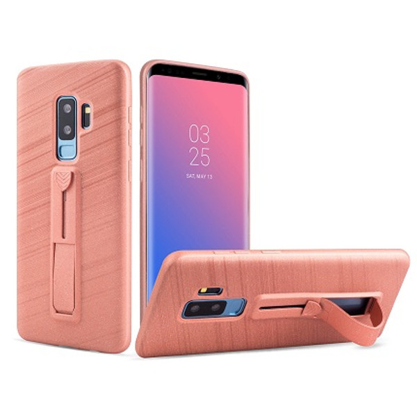 Samsung Galaxy S8 Rose Gold Ultra thin  with Finger Holder/Kick Stand Case