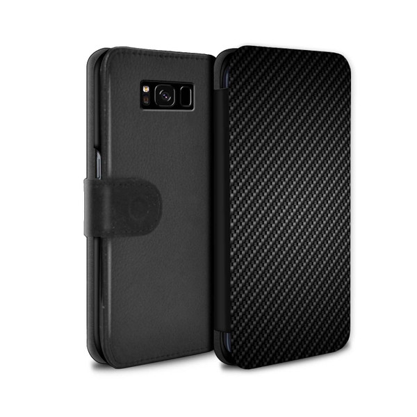 Samsung Galaxy S8/G950/Carbon Fibre Effect/Pattern/Grey Wallet