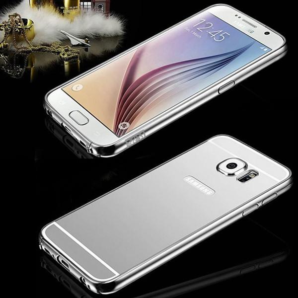 Samsung Galaxy S9 Aluminum Silver Metal Bumper Mirror Hard Back Case