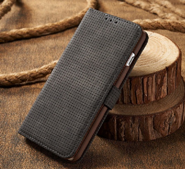 Samsung Galaxy S9 Black Leather Magnetic  Wallet Case
