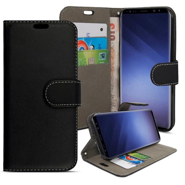 Samsung Galaxy S9 Black pu leather wallet case