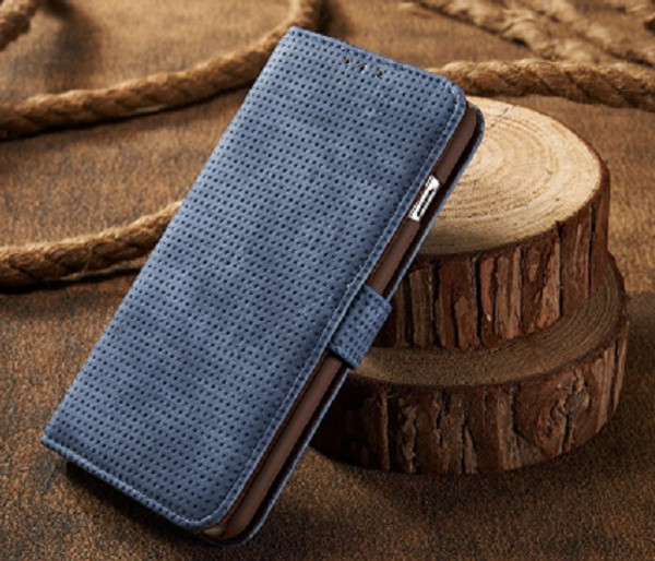 Samsung Galaxy S9 Blue Leather Magnetic  Wallet Case
