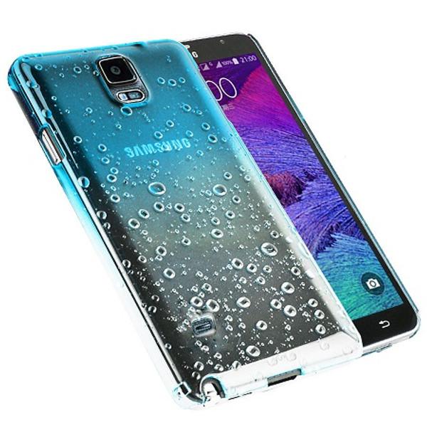 Samsung Galaxy S9 Blue Rain Drop Hard Back  Protector Skin Case Cover
