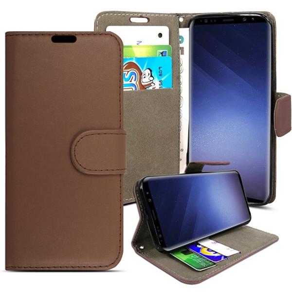 Samsung Galaxy S9 Brown pu leather wallet case
