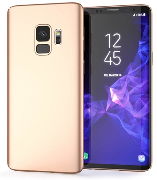 Samsung Galaxy S9 Gold Hybrid Hard Slim Case