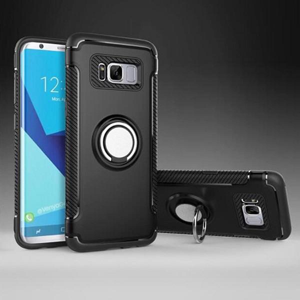 Samsung Galaxy S9 plus Black  Luxury Shockproof Ring Holder Stand Hard Case