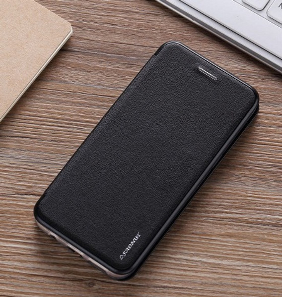 Samsung Galaxy S9 Plus Leather Wallet Ultra Thin Magnetic Black Case