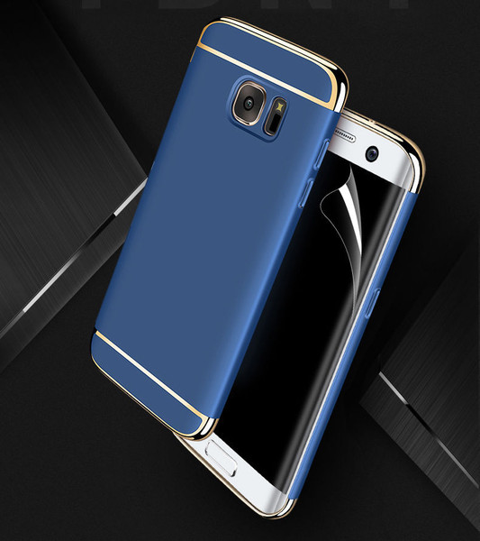 Samsung Galaxy S9 Plus Luxury Ultra Slim Shockproof Bumper Case Navy