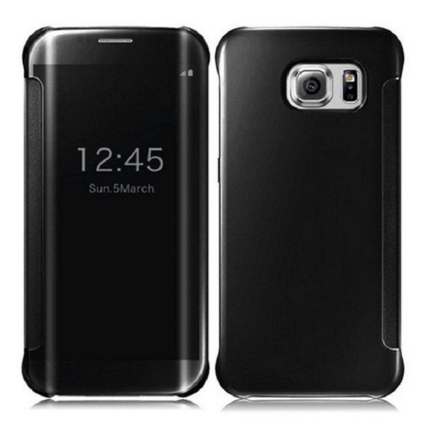Samsung Galaxy S9 Plus Mirror Smart View Clear Flip Cover - Black