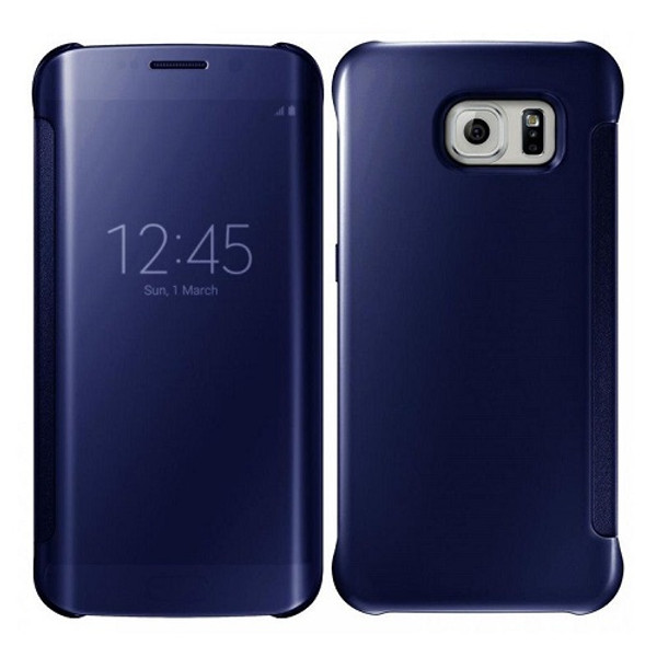 Samsung Galaxy S9 Plus Mirror Smart View Clear Flip Cover - Navy Blue