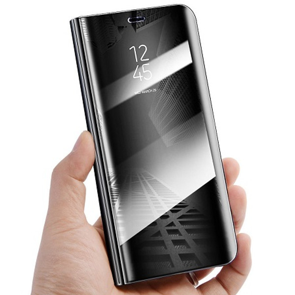 Samsung Galaxy S9 Plus Mirror View Stand Cover Black