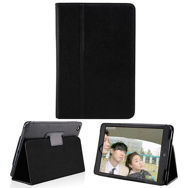 Samsung Galaxy Tab 3 10.1 Black Leather Tablet Stand Flip Cover