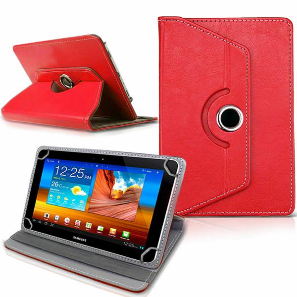 Samsung Galaxy Tab 3 7.0 LITE (T110/T111)  Red Folding Folio 360 Rotating Stand  Case