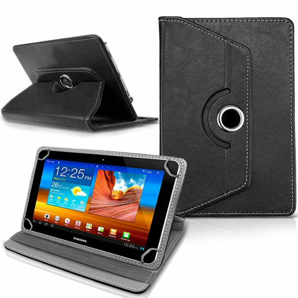 Samsung Galaxy Tab 3 7.0 LITE (T110/T111) Black Folding Folio 360 Rotating Stand  Case