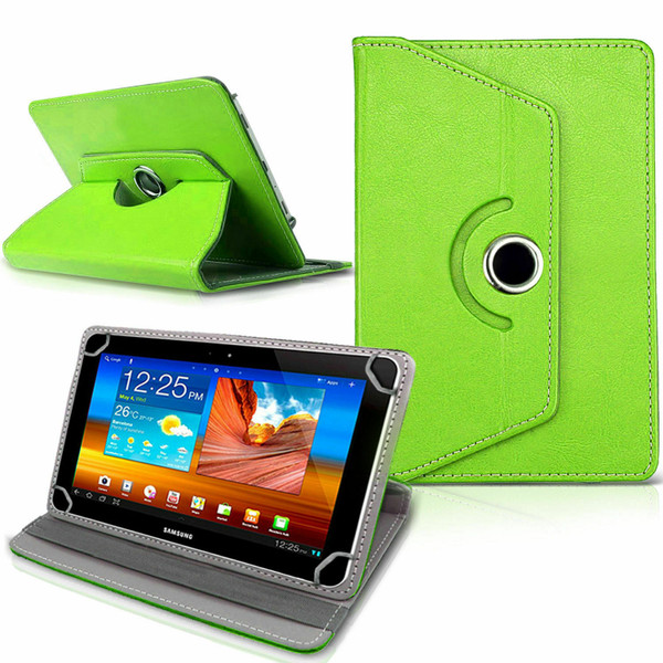Samsung Galaxy Tab 3 7.0 LITE (T110/T111) Green Folding Folio 360 Rotating Stand  Case