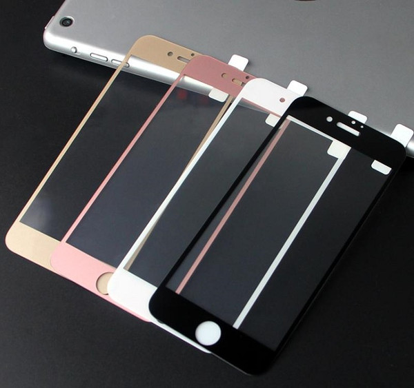 3D Curved Tempered Glass Screen Protector for iPhone 6 Plus/6s Plus - Gold