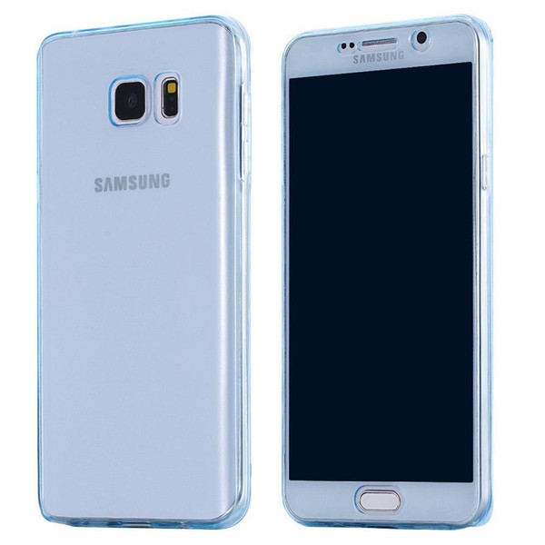 Samsung S6 Edge Plus Shockproof 360 Silicone Soft Case Cover -Blue
