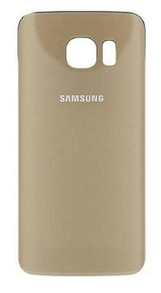 Samsung S6 Edge Replacement Glass Housing Battery Back Cover - Gold
