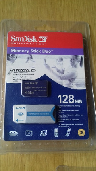 Sandisk 128MB Pro Duo Memory Card Stickand Adapter