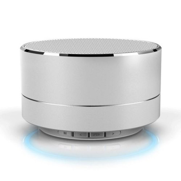 Silver Aluminium Wireless Bluetooth Speaker